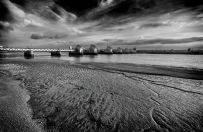 2018-19 PRINT RND1-3rd LOW TIDE AT THE BARRIER by Steve Yates