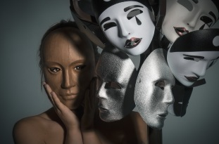 2018-19 PRINT RND1-THE MASKS OF ANONYMITY AND SORROW by Graham Wilcock