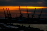 2018-19-print-rnd2-SUNSET OVER THE TYNE by Ros Wood
