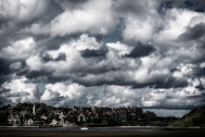 2019-20 PRINT rnd1 - CLOUDS GATHER OVER ALNMOUTH by Mike Tagg
