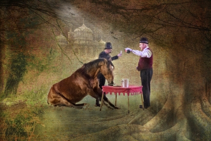 2019-20 PRINT rnd1 - THE HORSE WHO CAME TO TEA by Ros Wood