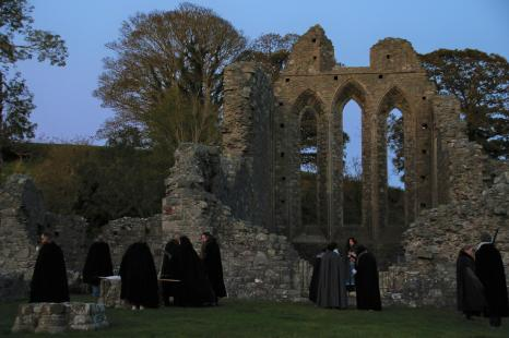 2019-20 PRINT rnd2 - RE-ENACTMENT AT INCH ABBEY by Paula Titheradge