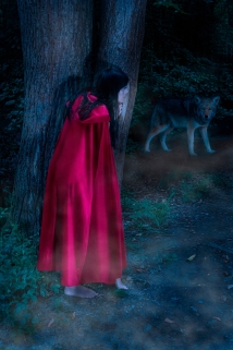 2019-20 PRINT rnd2 - RED RIDING HOOD AND THE WOLF by Ros Wood