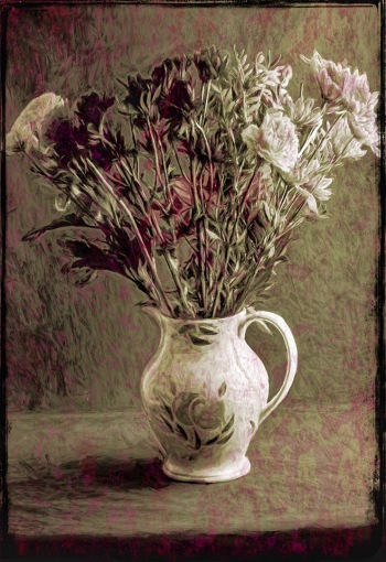 2019-20 PRINT rnd3 - GRUNGY FLOWERS by Ros Wood