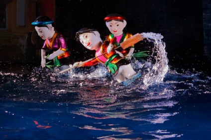 2019-20 PRINT rnd3 - WATER PUPPETS HOI AN VIETNAM by Edwin Cowley