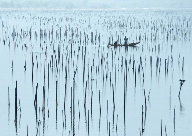 FISHING IN HALONG BAY VIETNAM by Edwin Cowley